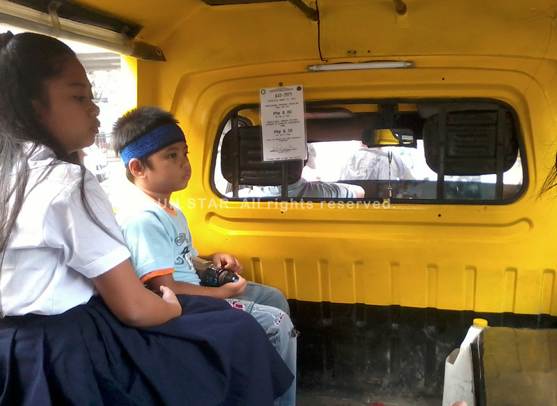SOME public utility vehicles have already been collecting the P8 minimum fare after they were given notices, like this one in photo, by the Land Transportation Franchising and Regulatory Board. (Terry D.C. Betonio)