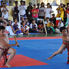 PANGASINAN. A team from Cordillera Administrative Region competes in the elimination round of Arnis Anyo doubles event in the ongoing Palarong Pambansa 2012 in Lingayen, Pangasinan, on Sunday. (Liway C. Manantan-Yparraguirre)