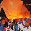 PANGASINAN. Young athletes light Chinese lanterns during the closing ceremonies of Palarong Pambansa 2012 in Lingayen, Pangasinan over the weekend. (Liway C. Manantan-Yparraguirre)