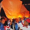 PANGASINAN. Young athletes light Chinese lanterns during the closing ceremonies of Palarong Pambansa 2012 in Lingayen, Pangasinan over the weekend. (Liway C. Manantan-Yparraguirre)