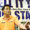 Vice gubernatorial candidate Glen Soco answers questions from Sun.Star Cebu reporters and editors. Transparency, he says, is also about speaking your mind. He criticizes opponent Acting Gov. Agnes Magpale for using the Balili lot purchase issue when she was among those who approved it. (Ruel Rosello)