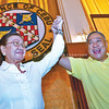 CEBU.  Four days after the elections, the Provincial Board of Canvassers declares Hilario Davide III (right) the new governor of Cebu and his running mate, Acting Gov. Agnes Magpale, as the newly elected vice governor. Davide first ran for governor in 2010.  (Amper Campaña)