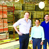 RMD Kwikform: from left Hamish Bowden-Asia regional director; Engr Warel Demaisip-Southern Region Manager; Ian Hayes-Divisional Operations Director with their steel forms and scaffoldings. They provide solutions for builders and contructors.<br /> <br />    photo / Allan Cuizon