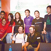 STARTUP EVENT. Organizers of Startup Weekend Cebu hold a press conference to talk about the event. Among the key organizers are Tina Amper (5th from left), founder of TechTalks.ph; JCI-Mandaue VP for individual development Ramil Montealto (standing, 6th from left) and coorganizers Keith Lumanog (3rd from right) and Paul Villacorta (2nd from right). (Photo by Allan Cuizon of Sun.Star Cebu)