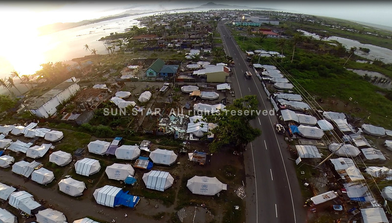 Tacloban tent city located in San Jose