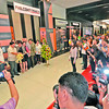 DAVAO. DPWH Asst. Sec. Cathy Cabral and City Building Office chief Jaime Adalin, along with other officials and delegates, lead the cutting of ribbon to formally open the 3-day Philconstruct Mindanao 2012. (King Rodriguez)