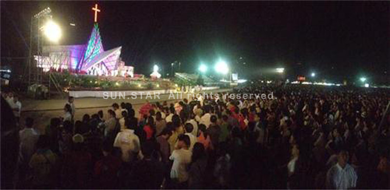CEBU CITY. A view of the Thanksgiving Mass held Friday at the South Road Property (SRP).