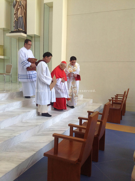 CEBU CITY. Ricardo Cardinal Vidal is also present at the consecration of the Chapel of San Pedro Calungsod on Thursday afternoon at the SRP. (JAC)