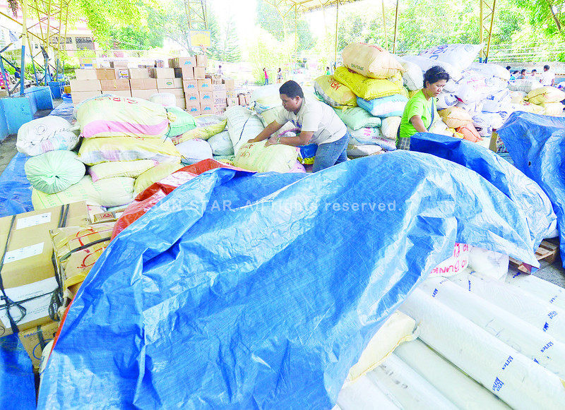 Calling volunteers for repacking of relief goods