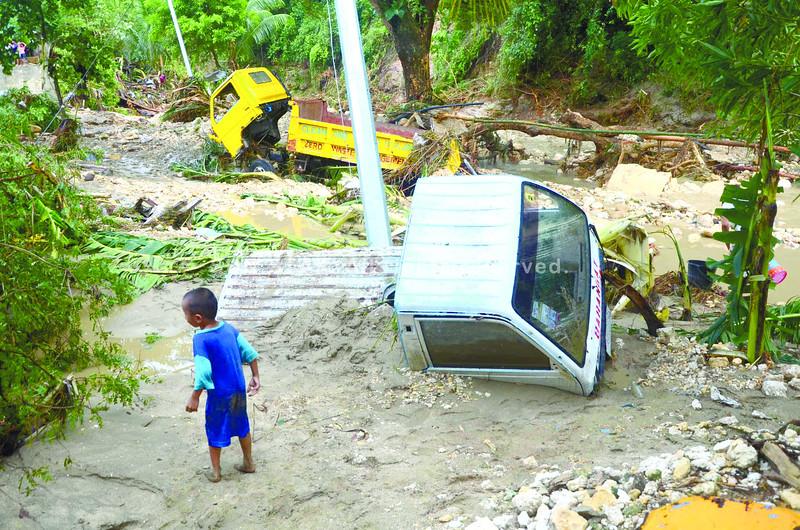 Tropical Depressiion Queenie flooding in Argao