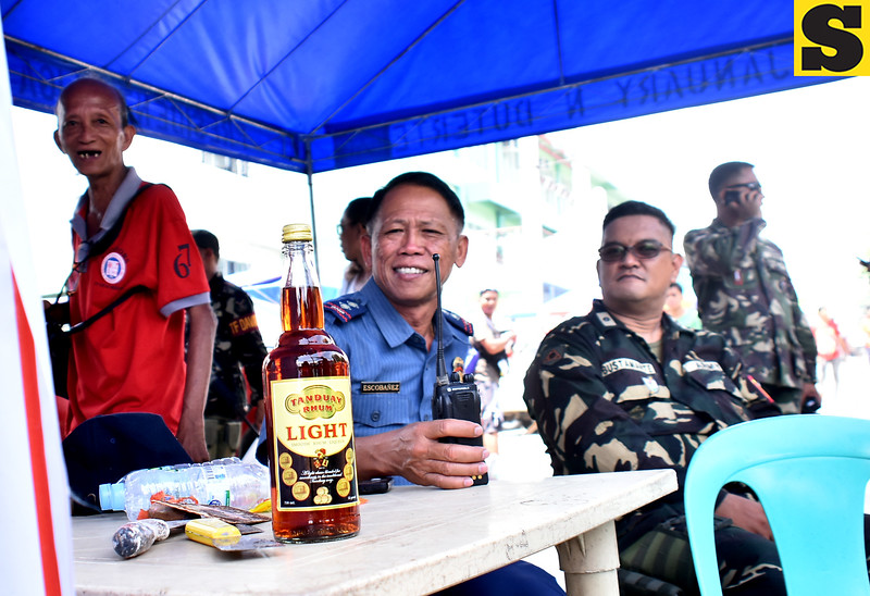 Liquor seized inside Wireless Cemetery in Davao