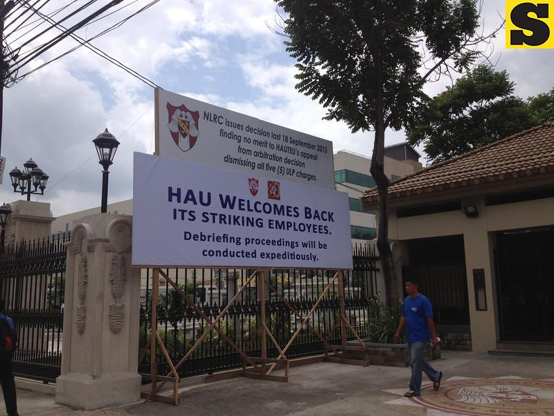 Holy Angel University tarpaulin