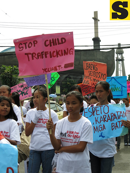 Anti-child trafficking rally