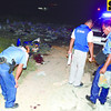 SHOOTING----Lapu Lapu City Homicidw Section search on crime scene in Sitio Balanghoy,Barangay Gun-ob where Glenn Henonsalao gun down of one male unidentified suspect.------SUN.STAR FOTO/ ALAN TANGCAWAN