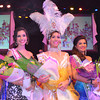 BACOLOD. Ena Louis Velasco (center), a student at the University of St. La Salle, was crowned MassKara Queen 2012. Schoolmates Samyah Al-Dossary (right) won first-runner-up honors while Daphne Tanya Molenaar bagged the 2nd runner-up award. (Gilbur L. Guarte)