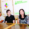 START-UPS. Janessa Padin (right) talks about WaitKnowMore, her start-up that won the first Start-up Weekend Cebu (SWC). With Padin during Thursday's (October 18, 2012) press conference for SWC are (from left) her brother Albert, SpellDial founder, and organizers Mark Buenconsejo, Dave Overton and Tina Amper, who is also the founder of TechTalks.ph. (Sun.Star Photo/Amper Campana)