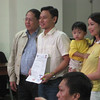 "MANILA. Aurora Representative Juan Edgardo ""Sonny"" Angara files his candidacy papers at the Comelec main office with his wife, youngest son, and father Senator Edgardo Angara. (Kathrina Alvarez/Sunnex)"