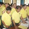 MISAMIS Oriental Vice Governor Norris Babiera (extreme left) leads the province's candidates in filing their certificates of candidacy at the provincial Commission on Elections office on Monday. (Joey P. Nacalaban)