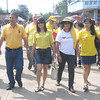 ZAMBOANGA. Lamitan City Mayor Roderick Furigay (left) and wife Rosita (2nd from left) accompanied by their supporters on Wednesday troop to the election office to file their candidacies for the 2013 polls. (Bong Garcia)