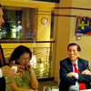 BACOLOD. Rep. Jack Ponce Enrile Jr. talks with sugar industry leaders (L-R) Ma. Regina Martin, Juan Ponce Enrile, and NFSP president Enrique Rojas in a dinner meeting Tuesday at Chef Jessie Restaurant in Rockwell, Makati. (Butch S. Bacaoco)