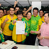 Annabelle Rama files her certificate of candidacy in Cebu City on Friday, October 5, 2012. She was accompanied by her family and partymates. Annabelle is running for Cebu City north district congressional seat. (Sun.Star Cebu/Arni Aclao)