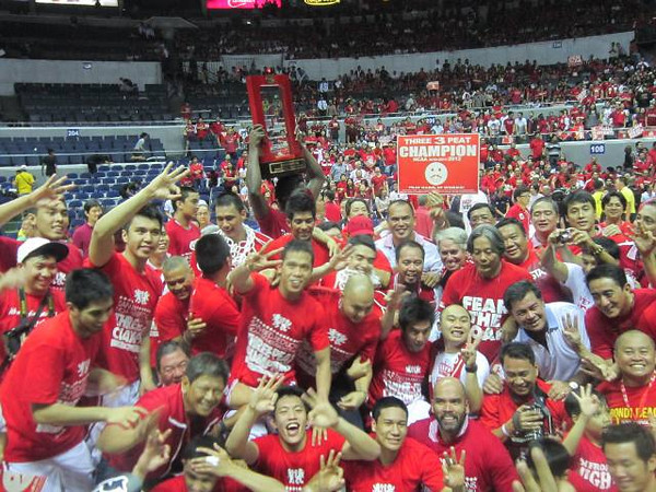 MANILA. San Beda College bested Letran in three games to annex its 17th crown in the 88-year-old NCAA men's basketball tournament. (Virgil Lopez/Sunnex)