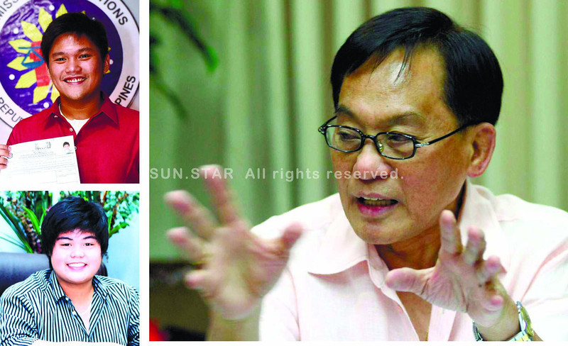 "EDUARDO R. GULLAS. Thirty seven years in government service, and still counting. ""I hope my fellow Cebuanos will determine that I left this place better than when I found it."" Grandsons Samsam(top left), for congressman, and Digul (far left), for city councilor. (Sun.Star Cebu file photos)"