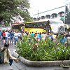 """BACOLOD. The Girl Scouts of the Philippines' Regional Encampment assembles at the Araneta St. at 4 a.m. Wednesday to spend the night in Amlan, Negros Oriental after all sea vessels were prohibited from travelling due to Tropical Storm """"Ofel"""". (Butch S. Bacaoco)"""