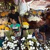 PAMPANGA. Vendors sell a variety of flowers in front of the Metropolitan Cathedral in the City of San Fernando in time for All Saints' Day today, November 1, 2012. (Chris Navarro)