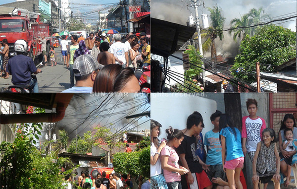 CEBU CITY. Several houses were gutted in a fire that hit barangays T. Padilla and Day-as Wednesday afternoon, October 17, 2012. (Jophet Budlat)
