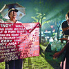Kids reads the placard of this protester during the anti-pork rally at Fuente Osmena ground this evening.....( Sunstar-Amper Campaña  9 11 2013 )