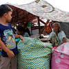 CAGAYAN DE ORO. Evacuees from Barangays Mariki and Rio Hondo set up tents at the R.T. Lim Boulevard, Zamboanga City Thursday afternoon, September 12, 2013. (PHOTO BY JB R. DEVEZA)