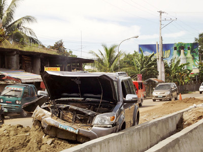 Road accident at Araneta Street, Bacolod City