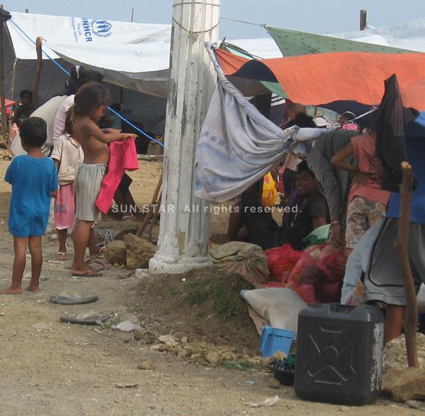 Badjao families in Zamboanga City