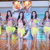 BACOLOD. The MassKara Queen candidates during the Press Presentation and Pre-Pageant Swimwear at the clubhouse of the Palisades Subdvision, Bacolod City. (L-R) Tiziani Vince Ybañez, Daphne Tanya Molenaar, Samyah Al-Dossary, Ena Loius Velasco, Rachel Malunes, Kris Piamor Gicaro, Mara Kathleen Dela Minez, Kris Anne Marie Dumancas, Danielle June Villaflor, and Dominique Abayon. (Gilbur L. Guarte)