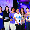 FIRST CEBU MEDIA EXCELLENCE AWARDS.  Print Reporters of the Year (starting 4th from left) Rebelander S. Basilan (Youth and Education Category), Princess D. Felicitas (Governance and Social Progress), Kat O. Cacho (Business and Entrepreneurship), Assistant News Editor Linette Ramos-Cantalejo (Feature Story of the Year) and Reporter of the Year Mia Abellana-Aznar (Information and Communications Technology), at the Cebu Media Excellence Awards organized by Globe Telecom. (From left) Editors Liberty A. Pinili, Isolde D. Amante and Cherry Ann T. Lim (who won the Feature Story of the Year prize with Ramos-Cantalejo and Bernadette A. Parco) are also recognized, along with Business Editor Max T. Limpag (not in photo) for their handling of the winning entries.  (Sun.Star Photo/Allan Cuizon)
