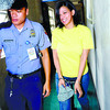 COURTROOM DRAMA. Bella Ruby Santos steps outside the courtroom after the trial on her kidnapping with homicide case at RTC Branch 6 in Cebu City. (Sun.Star Photo/Arni Aclao)