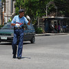 BACOLOD. Bacolod City Traffic Enforcer Antonio Cordero Jr. delights motorists with his dancing routine as he directs traffic. (Merlinda A. Pedrosa Photo)
