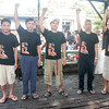 """CAGAYAN DE ORO. Alfredo """"Ka Oris"""" Mapano (2nd from right), regional chair of the CPP-NPA, leads the fasting protest inside the Misamis Oriental Provincial Jail with four other comrades. (Joey P. Nacalaban)"""