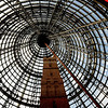 """Novice grade open........"""" Iconic Melbourne Central Cone """"  by........Lea Worley........Accepted.<br /> <br /> This image of the old Shot Tower is well composed. There are some great angles to be found in this building and the photographer has done well finding this one. The red on the right is very important as it complements the blues in the sky.  Very  strong lines here too."""