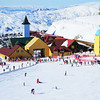 "Open subject, B grade........"" Cool Cardrona Fun ""  By  Esme Pohatu........Accepted.<br /> <br /> This is a really colourful record shot of the snowfields. The colourful buildings and people certainly stand out against the snow. You have a nice lead into the buildings on the LH side with the row of people. I think I would crop off all the foreground with the scattered people,(almost 1/3 of your image) this would then make your foreground, the buildings and the more densely positioned people and thus take you right into the interesting part of the image straight away. I feel your exposure is not quite right as you have several areas of burnt out snow. I like the way you have cropped right down to the top of the mountain."