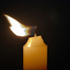 Candle in the Wind Brian Dowling<br /> The flame being blown off to the side adds greatly to this image and it counteracts the central placement of the candle well. Nicely done.<br /> Merit