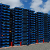 Stacked Allan Ford<br /> The bold blue and repeating shapes give this image its impact. I find the sky and gravel balance each other but wonder whether this image would be visually stronger with them cropped out altogether.<br /> Accepted