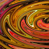 Abstract	Heather Macleod B grade<br /> This works well, I know it is just a press of a computer button but you have achieved a focal point with the centre of the swirl on the RH side. The colours are varied but go well together. I like the strip of white, it lifts the whole thing. It is certainly an abstract.	HONS