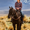 Highcountry girl & friend Allen Hogan A grade<br /> 	I wonder have you cropped this too tightly, obviously taken in wide open spaces. I find this a bit static and feel if you had shown more of the wide spaces around her and those towering mountains behind you would have a far more dramatic image with more feeling to it.It is nicely exposed and lovely and sharp but misses out on telling a story that was obviously there.	MERIT