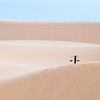 Long way home Tim Pierce A grade<br /> This very simple image has it all, lovely muted colours and soft undulating lines. The placement of the little black figure just tops it off.. Also slight texture in the sand hills adds another dimension.	HON