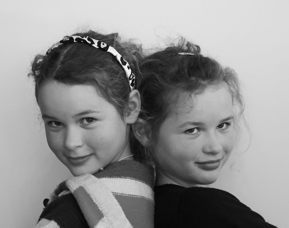 The Twins Prue Wallis Novice<br /> Good tight composition and placement of your models. This image suits the black and white treatment and you have a good range of tones.<br /> Accepted