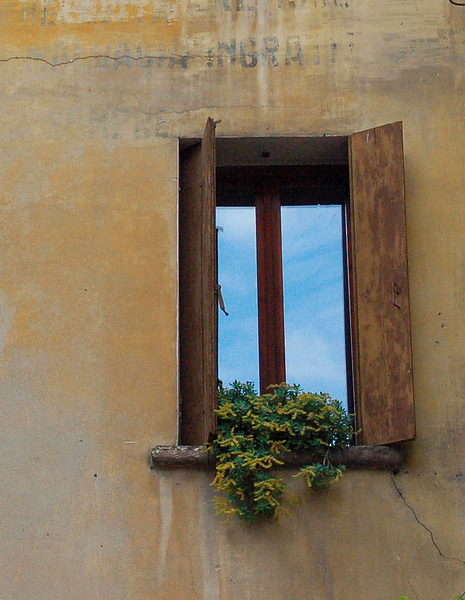 Window on Exposed Wall---Asolo, Italy