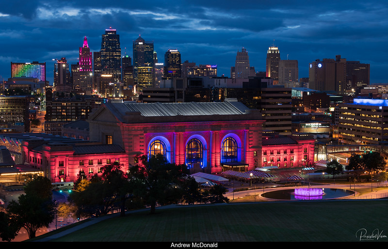 Union Station and Downtown Kansas City Skyline