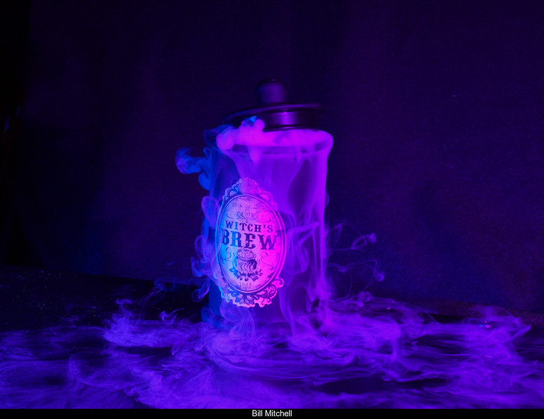 Witch's Brew with Purple Gel on Flashes